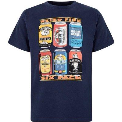 Weird Fish Six Pack Artist T-Shirt Maritime Blue Size S