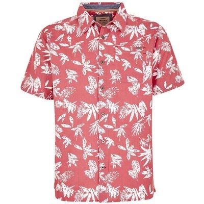 Weird Fish Mullins Hawaiian Short Sleeve Shirt Rose