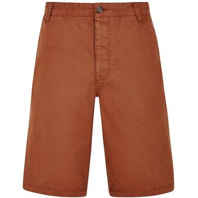 Weird Fish Hiram Cotton Twill Shorts Brick Red Size 40