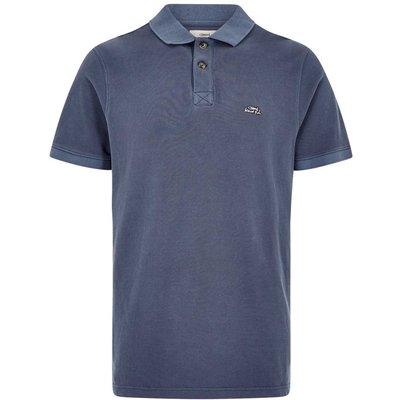 Weird Fish Edwin Garment Dyed Polo Shirt Pewter