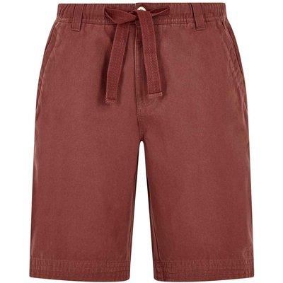 Weird Fish Gifford Cotton Twill Shorts Oxblood Size 40