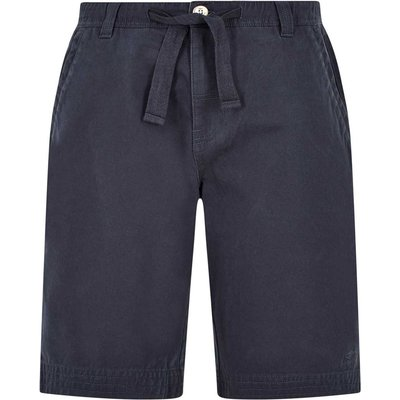 Weird Fish Gifford Cotton Twill Shorts Black Iris Size 40