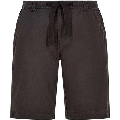 Weird Fish Gifford Cotton Twill Shorts Washed Black Size 40