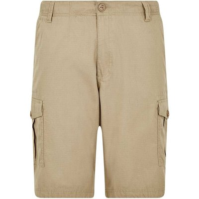 Weird Fish Kline Cotton Ripstop Shorts Taupe Grey Size 34