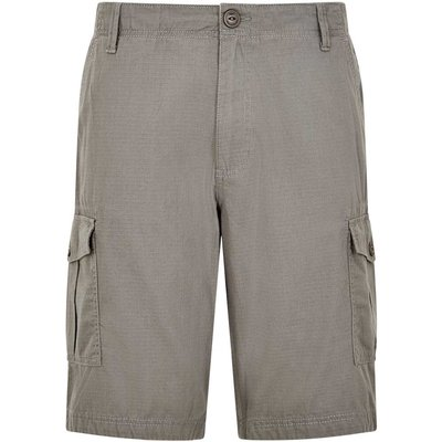 Weird Fish Kline Cotton Ripstop Shorts Grey Size 34