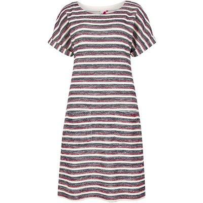 Weird Fish Brit Stripe Jersey Dress Light Cream