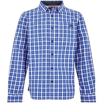 Weird Fish Lamarr Check Long Sleeve Shirt Ensign Blue