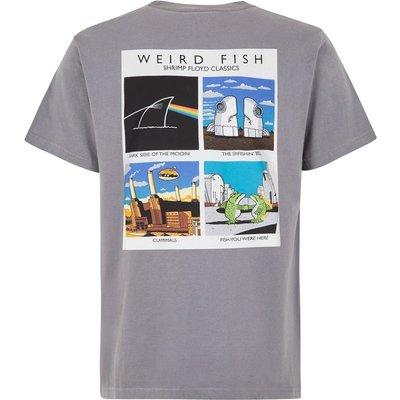 Weird Fish Shrimp Floyd Front Print Artist T-Shirt Grey Size 2XL