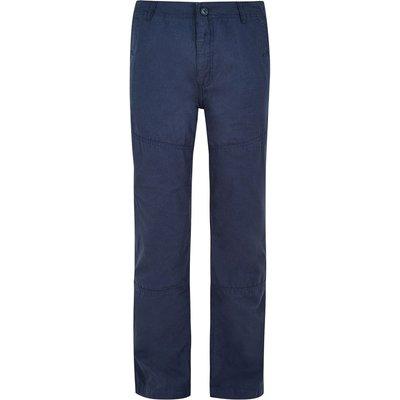 Weird Fish Troon Ripstop Workwear Trouser Black Iris Size 38