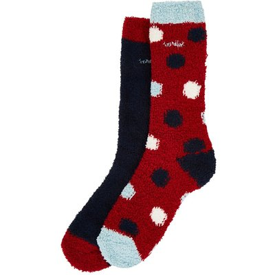 Weird Fish Park Fluffy Sock 2-Pack Dark Navy