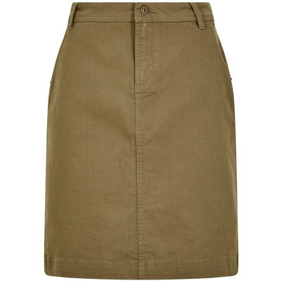Weird Fish Irina Stretch Twill skirt Dusky Green