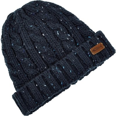 Weird Fish Hollis Cable Nepp Beanie Hat Maritime Blue Size ONE