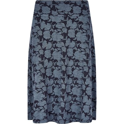 Weird Fish Bloom Jacquard Skirt Dark Navy