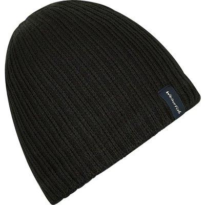 Weird Fish Bally Beanie Hat Black