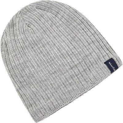 Weird Fish Bally Beanie Hat Grey