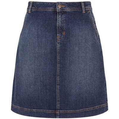 Weird Fish Ria Denim Skirt Dark Denim