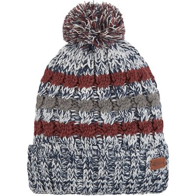 Weird Fish Vito Twisted Yarn Bobble Hat Maritime Blue