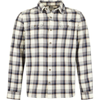 Weird Fish Currow Long Sleeve Brushed Check Shirt Twilight