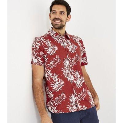 Weird Fish Mayo Hawaiian Short Sleeve Shirt Paprika