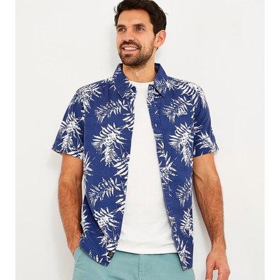 Weird Fish Mayo Hawaiian Short Sleeve Shirt Blue Indigo