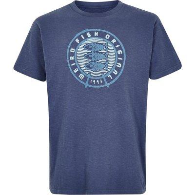 Weird Fish Origin Graphic T-Shirt Blue Indigo