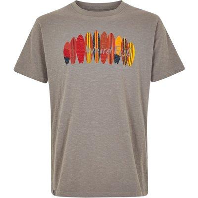 Weird Fish Surfer Graphic T-Shirt Steel Grey