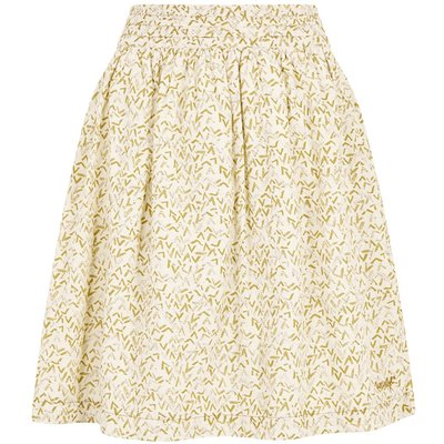 Weird Fish Haywood Printed Voile Skirt Bamboo