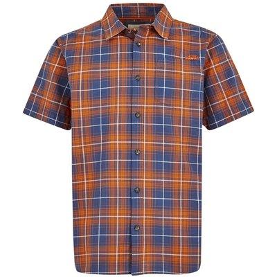 Weird Fish Charter Short Sleeve Check Shirt Pumpkin