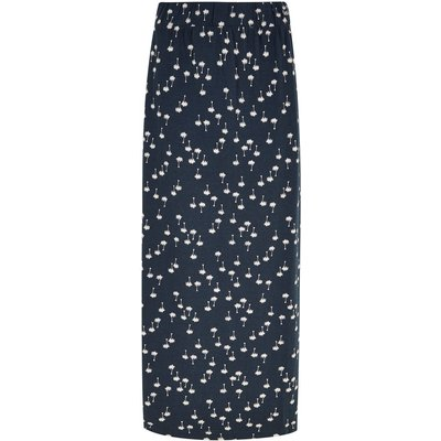Weird Fish Maren Printed Maxi Skirt Maritime Blue
