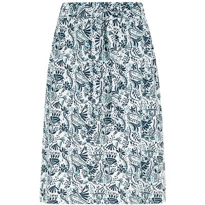 Weird Fish Zahra Printed Midi Skirt White