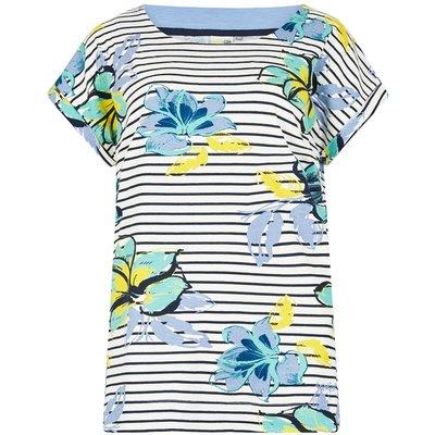 Weird Fish Paw Paw Printed Jersey T-Shirt Cream Size 22