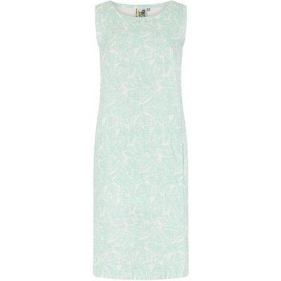 Weird Fish Elliana Printed Linen Dress Honeydew