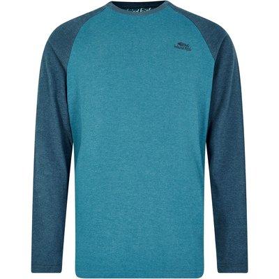 Weird Fish Askill Plain Long Sleeve T-Shirt Blue Jay Marl