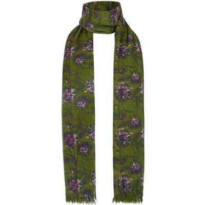 Weird Fish Alverton Patterned Scarf Pear