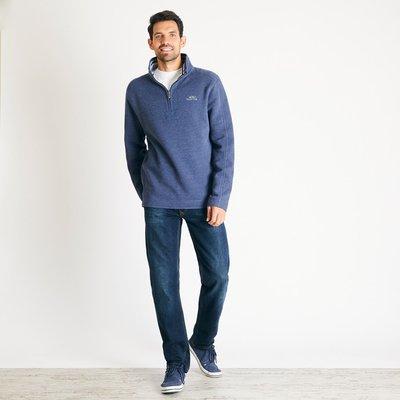 Weird Fish Knock 1/4 Zip Branded Fleece Sweatshirt Navy Marl