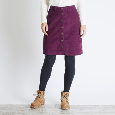 Weird Fish Winny Cord Skirt Purple Potion