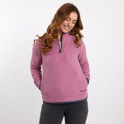 Weird Fish Beyonce 1/4 Zip Grid Fleece Sweatshirt Malaga