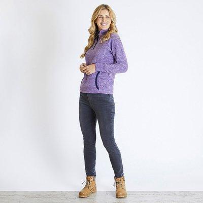 Weird Fish Nancy 1/4 Zip Melange Fleece Sweatshirt Purple Magic