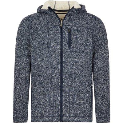 Weird Fish Leckie Plain Bonded Fleece Jacket Grey
