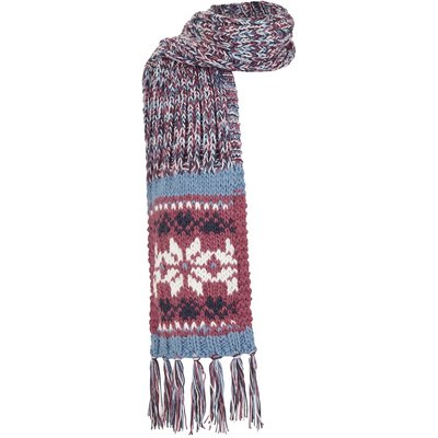 Weird Fish Callie Fair Isle Patterned Scarf Malaga
