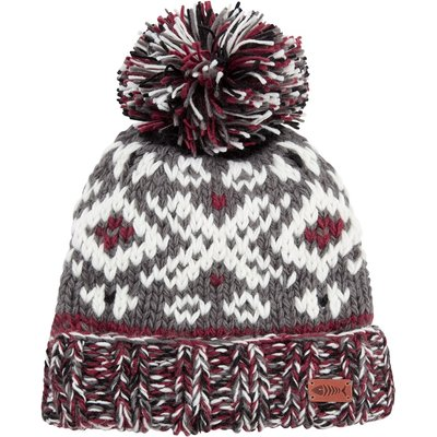 Weird Fish Paulo Fair Isle Patterned Hat Cement