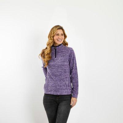 Weird Fish Larnee 1/4 Zip Plain Fleece Sweatshirt Purple Magic