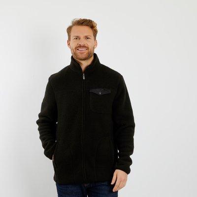 Weird Fish Ellroy Full Zip Fleece Jacket Washed Black