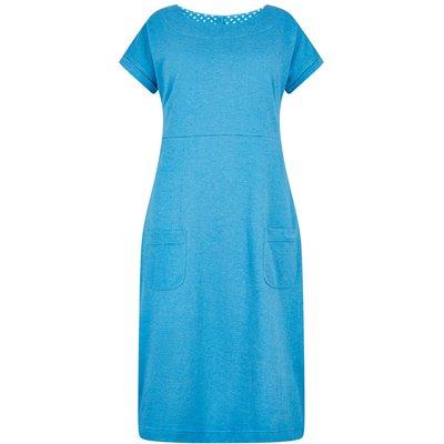 Weird Fish Talia Plain Jersey Dress Blue Wash