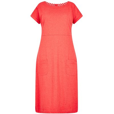 Weird Fish Talia Plain Jersey Dress Radical Red
