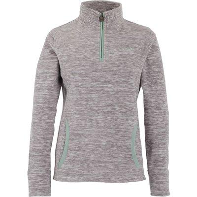 Weird Fish Nancy 1/4 Zip Melange Fleece Sweatshirt Ash Grey