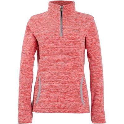 Weird Fish Nancy 1/4 Zip Melange Fleece Sweatshirt Radical Red