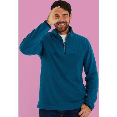 Weird Fish Rothay 1/4 Zip Fleece Sweatshirt Deep Sea Blue