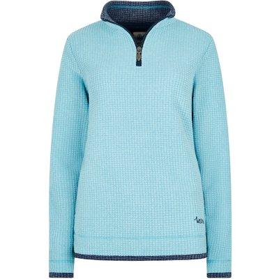 Weird Fish Beyonce Grid Fleece Sweatshirt Cyan