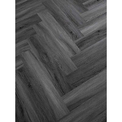 Novocore Herringbone Slate Grey LVT Flooring With Built In Underlay- 1.51m2 Pack